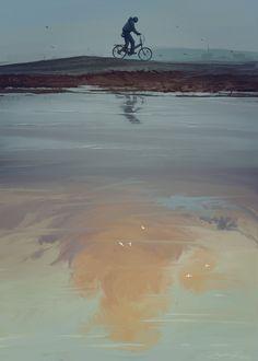 Alone, N kayurova on ArtStation at https://www.artstation.com/artwork/XaWga