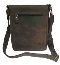 Aged Brown Leather iPad Bag