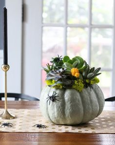 10 Halloween Pumpkin Planters U2014 Apartment Therapy. So Cute And Easy To  Make. I