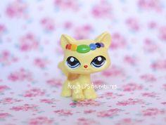 Littlest Pet Shop Custom Cat Rainbow diverKITTY Walking OOAK Painted LPS Acrylic #Hasbro