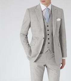 Reiss Garda - Mens Grey Peak Lapel Three Piece Suit