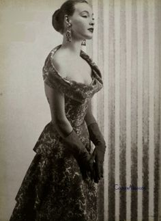 Weekend Eye Candy - Jean Desses, 1953 - Couture Allure Vintage Fashion