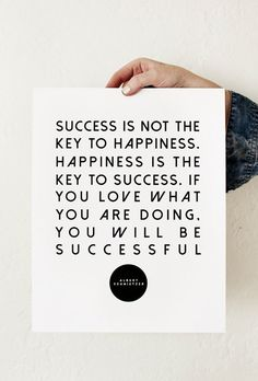 Happiness = success