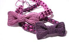 Sommer+crochet+design | DIY: Haarband mit Schleife selbst gehäkelt