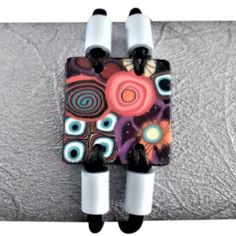 Bracelet cuir noir connecteur polymére Bracelet Cuir, Coups, Creations, Articles, Black Leather, Amigos, Beads, Bijoux