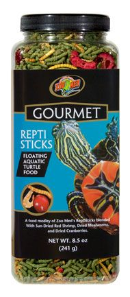 Zoo Med's Gourmet ReptiSticks™ - Add a nice high protein treat to your #turtle's diet with the addition of dried shrimp, mealworms, and cranberries.