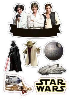 Star Wars Birthday, Star Wars Party, Bolo Star Wars, Aniversario Star Wars, Star Wars Cake Toppers, Star Wars Stickers, Printable Star, Star War 3, Star Wars Gifts