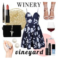 """Vineyard wedding 2016: Part Two"" by kendallballesteros ❤ liked on Polyvore featuring Lancôme, Ally Fashion, Missguided, JINsoon, NARS Cosmetics, Cesare Paciotti, Kate Spade, Schott Zwiesel, napa and winerywedding"