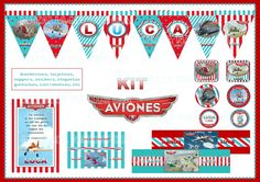Aviones Disney - KIts Imprimibles Natalia Nachu Cia - https://www.facebook.com/pages/Natalia-Nachu-Cia/134298580103766?ref=stream_location=timeline