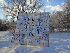Inspiration for my cardinal bird quilt (Pie Lady Quilts: The Lovely Woods)
