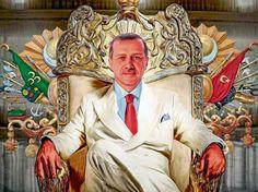 Recep Tayyip Erdogan sitzt auf Herrscher-Thron
