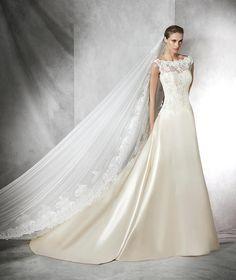 Teri, vestido de novia de encaje con escote barco