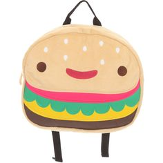 Loungefly Cheeseburger Backpack | Hot Topic ($18) ❤ liked on Polyvore featuring bags, backpacks, backpack, accessories, box, loungefly, loungefly bags, rucksack bag, beige bag and knapsack bags