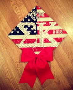 Graduation | Sigma Kappa | Decorated mortar board / grad cap ✰ all-american grad ✰