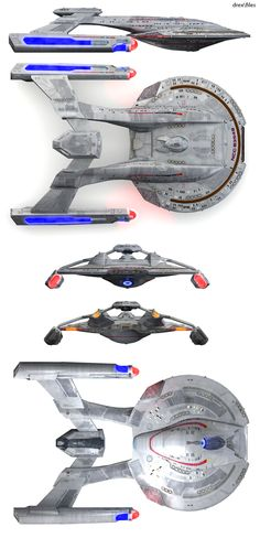 Akira Class Starship - one of the best Trek ship designs. A sort of future NX class configuration and design for the 24th century.