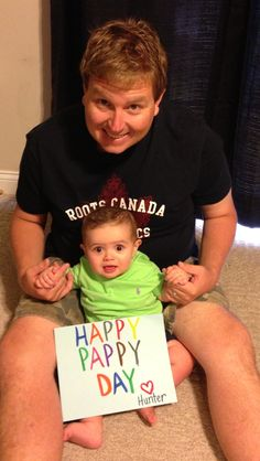 Happy Pappy Day!! Scott's first Father's Day...we sent this to his dad!