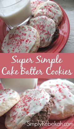 These 4 ingredient cookies are super easy to make! I don't really enjoy baking, but this is a cookies recipe I can definitely handle.
