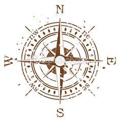 Grunge-Vektor-Kompass — Stock-Vektorgrafik © dmstudio #6408241