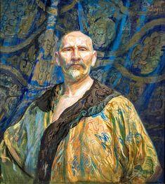 Leon Wyczółkowski (Polish,1852-1936) Self-portrait in Chinese caftan ,1911