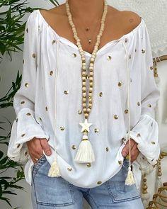 Trend Fashion, Look Fashion, Womens Fashion, Autumn Fashion, Fashion Outfits, Mode Hippie, Basic Tops, Long Blouse, Plus Size Blouses