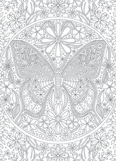 BUTTERFLY--Coloring+Card-Coloring+cards-3.95