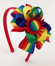 Look what I found on #zulily! Rainbow Stripe Pinwheel Loops Headband #zulilyfinds