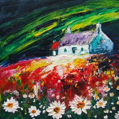 """For Sale """"Three Colours Of Love""""  Size: 60x60cm  Type: oil on box canvas"""