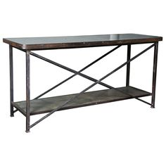 Industrial X-Console Table
