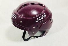 Vintage Maroon Jofa 366 SR Hockey Helmet Size 6 3/4 - 7 3/8 Hockey Helmet, Football Helmets, Bicycle Helmet, Vintage, Cycling Helmet, Vintage Comics