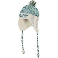 Philadelphia Eagles Reebok Heathered Tassel Pom Knit Hat