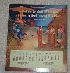 JW Calendar 1955
