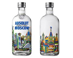 Absolut vodka Moscow bottle branding by Cocoon Group & Alena Akhmadullina