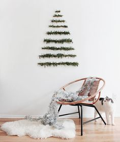 How to Decorate for Christmas Without a Tree | If your space is too small for a Douglas Fir, or you just want to try something out-of-the-ordinary this year, give one of these clever DIY ideas a go.