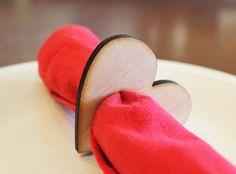 Heart Wood Napkin Rings - Large - Tiffzippy #valentinesday