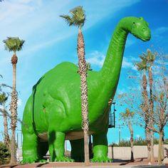 Cabazon Dinosaurs, Plastic Dinosaurs, California Travel, Dinosaur Stuffed Animal, Animals, Green, Animales, Animaux, Animal
