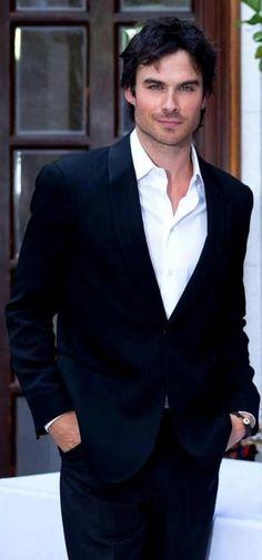 Ian Somerhalder. This man...his eyes are crazy pretty blue.