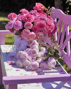 Roses, pinks, purples