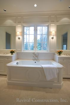 Master bath upon completion - Shutze Award winning Buckhead renovation by Revival Construction, Inc. and Architect D. Stanley Dixon.