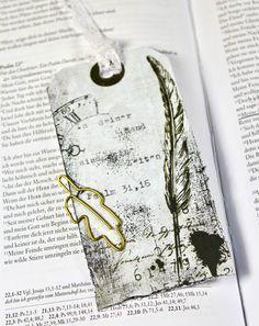 Tag bookmark für die Bibel aus unserem Zeitreise Kit , bible art journaling kit