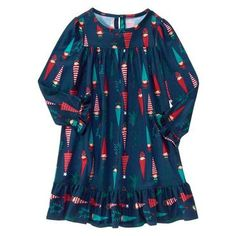Gymboree Outlet Holiday Gnomes Nightgown 7/8