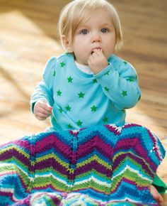 Free crochet pattern - High Tide Baby Blanket in Stitch Nation Full O' Sheep (discontinued)