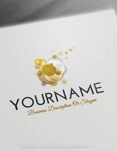 Create a Logo Free – Abstract Bubbles Logo Templates