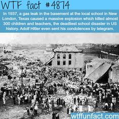 New London, Texas school explosion - WTF fun facts