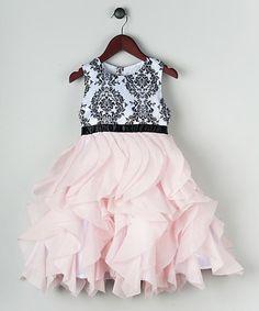 Look what I found on #zulily! Pink Damask Petal Dress - Toddler & Girls #zulilyfinds