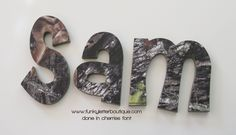 trendy baby room ideas for boys hunting mossy oak Boys Hunting Room, Hunting Bedroom, Hunting Nursery, Wooden Wall Letters, Letter Wall, Camo Nursery, Nursery Letters, Girl Nursery, Nursery Ideas