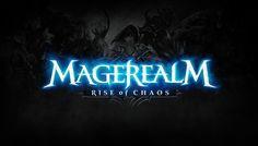 Magerealm:Rise of Chaos game logo design Typo Logo, Logo Branding, Game Font, Video Game Logos, Mobile Logo, Logo Shapes, Game Logo Design, Text Effects, Cool Logo