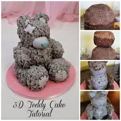 3D Teddy Bear Cake Tutorial