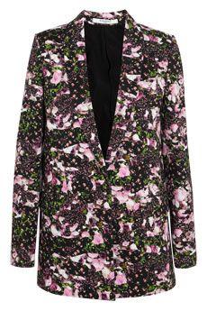 Givenchy Floral-print cotton-drill blazer  | NET-A-PORTER