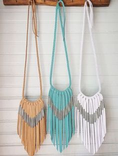 Chevron Leather Fringe Necklace by nativerainbow on Etsy More