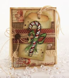 rustic candy cane card (gorgeous)